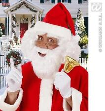 New White Beard With Moustache Santa Clause Father Christmas Fancy Dress