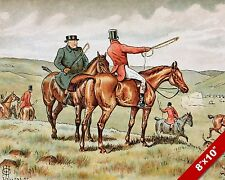 LOST THE SCENT FOX HUNT HORSE FOXHUNTING HUNTING ART PAINTING REAL CANVAS PRINT