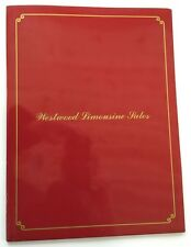 1989 Westwind Lincoln Town Car Limousine Sales Brochure Folder and Pricing