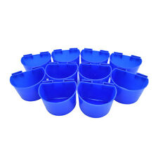 10 pcs Cup Hanging Water Feed Cage Cups Poultry Gamefowl Rabbit Chicken SP