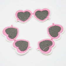Double Heart Embroidery Iron on patch sewn clothing applique Embroider DIY Motif