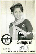WHAT Philadelphia MARY DEE Radio Station Photo 1960 GOSPEL Civil Rights Soul