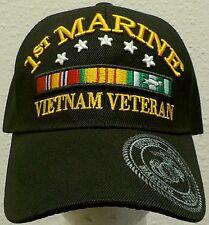 1st DIVISION DIV U.S. MARINE CORPS USMC VIET NAM VIETNAM VETERAN VET CAP HAT OS