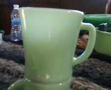 """Fire King"" Jadeite Green Jade-ite D Handle Coffee Mug Circa 60's ERA MARKING"