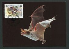 BULGARIA MK WWF ANIMALS BAT FLEDERMAUS MAXIMUMKARTE MAXIMUM CARD MC CM d4432