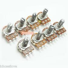 8Pcs Single 3-Pin Rotary Potentiometer Panel Pot Kit 15mm Shaft with Nut Washer