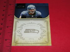NATIONAL TREASURES 2011 Zach MILLER #134 SP/99 Seattle SEAHAWKS Arizona State
