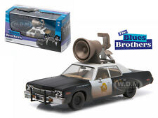 1974 DODGE MONACO BLUESMOBILE BLUES BROTHERS MOVIE W/HORN 1/43 GREENLIGHT 86423