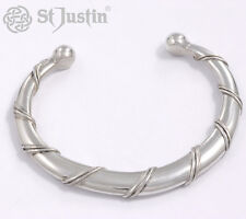 Spiral Cornish Pewter Torc Bangle by St.Justin, Size large TB01