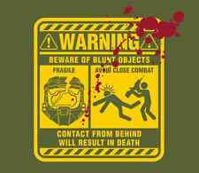 Mjolnir Warning Label - Halo Xbox One 360 TeeFury Tee Shirt - ML Mens Large