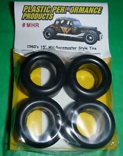 "NASCAR 1/25 60s 15"" M&H RACEMASTER TREAD TIRES SET STOCK CAR MODEL PPP MHR"