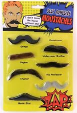 SELF ADHESIVE MOUSTACHES SET OF 7 IDEAL FOR PARTIES, STAGS, CHRISTMAS