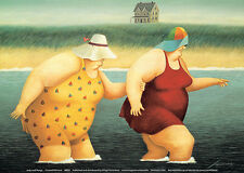 Judy and Marge Art Print by Lowell Herrero - 7x5