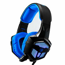 Sades SA-806 Gaming Headphones Headset Microphone with LED Light for PC Laptop