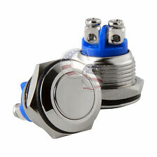 16mm Water Proof Starter Switch Boat Horn Momentary Push Button Stainless Steel