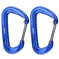 12KN Outdoor Camping Hammock Spring Wire Gate Carabiner Keychain Clip Hang Hook