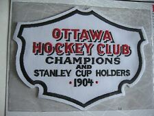 1904 Ottawa Silver Seven Official NHL Patch By Willabee & Ward