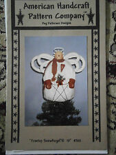 "Treetop Snow Angel 12"" Sewing Christmas Holiday Craft Pattern American Handcraft"