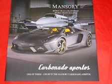 MANSORY LAMBORGHINI Aventador Carbonado Apertos one of three Prospekt von 2013