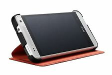 Official HTC One mini Double Dip Flip Case Stand HC V851 - Black with Red Lining