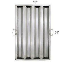 "1 pc Hood Filter/Grease Baffle, Stainless Steel, 25""H x 16""W, Commercial Range"