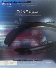 NEW LG Tone Active+ (Plus) HBS-A100 Bluetooth Stereo Headset - Blue