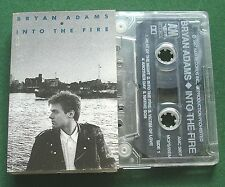 Bryan Adams Into the Fire inc Victim of Love & Rebel + Cassette Tape - TESTED