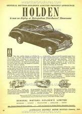 1949 HOLDEN FX 48 - 215 A3 POSTER AD ADVERT ADVERTISEMENT SALES BROCHURE