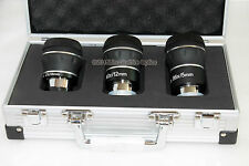 "Olivon premium ED 1.25"" 5mm, 12mm, 18mm eyepiece set with aluminium case. FMC"