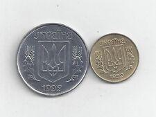 2 COINS from UKRAINE - 5 & 10 KOPIJOK (BOTH DATING 1992)