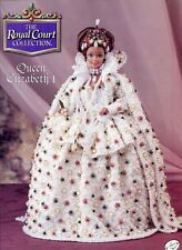 Queen Elizabeth I Outfit for Barbie Doll Annie's Royal Court Crochet Pattern