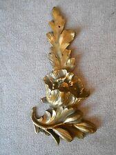 Antique French Bronze FLORAL PLAQUE PEDIMENT