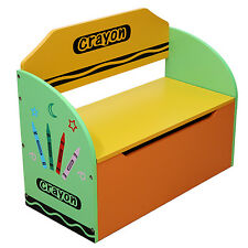 Bebe Style Childrens Crayon Wooden Toy Box, Storage Unit, Bench+Chair-NEW Kids
