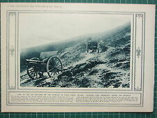 1915 WWI WW1 PRINT AUSTRIAN GUNS ABANDONED DURING RETREAT GREAT VICTORY SERBIANS