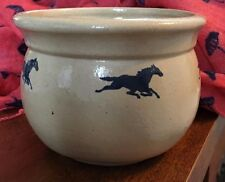 Studio Pottery Running HORSES Owl Mark