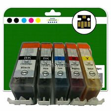5 Ink Cartridges for Canon Pixma iP4850 iP4950 iX6250 iX6550 non-OEM 525-526