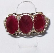 Estate 10k yellow gold ring with 6x8mm Ruby, t.w 2.40 gram, size 7.25