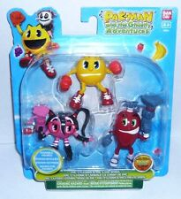 BANDAI PAC MAN and ghostly adventures  tre figure snodabili +4 anni