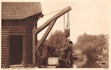 FORDWICH KENT UK CRANE HOUSE & DUCKING STOOL PHOTOCHROM PHOTO POSTCARD
