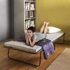 Single Folding Bed with Mattress Roll Away Guest Portable Sleeper Cot Metal X7H2