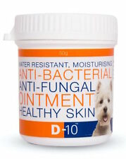 D-10 Dog Ointment: Anti-Fungal and Anti-Bacterial; Breaks 'Itch / Scratch' Cycle