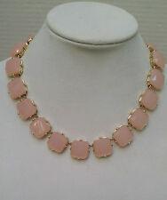 J Crew Pink Ice Square Epoxy Necklace