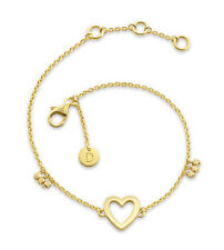 Daisy London NEW! 18ct Gold Plated Open Heart Good Karma Bracelet