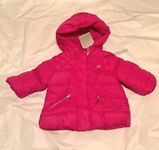 ZARA Baby Girls' Quilted Jacket with Hood Hot Pink 3-6 months BNWT