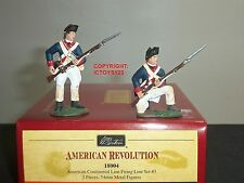 BRITAINS 18004 AMERICAN CONTINENTAL LINE FIRING METAL TOY SOLDIER FIGURE SET