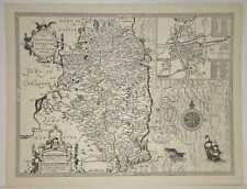 SPEED Leinster English Irish County Map Modern Black and White Reproduction 1610