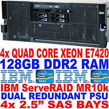 IBM x3850 M2 Virtualisation Server 4x Quad Core Xeon 2.13GHz 128GB RAM SAS RAID