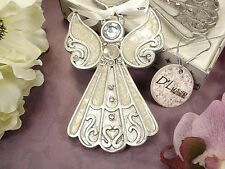1 Angel Ornament Hanging Christmas Wedding Favor Holidays Gift Epoxy Shimmering
