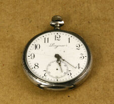 Longines .800 Silver Pocket Watch 50mm NOT WORKING WITH MISSING PARTS