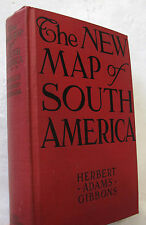 Gibbons Travel Politics Government New Map of South America Folding Illus. 1928